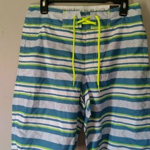 New American Eagle Board Shorts Surf Striped Mens